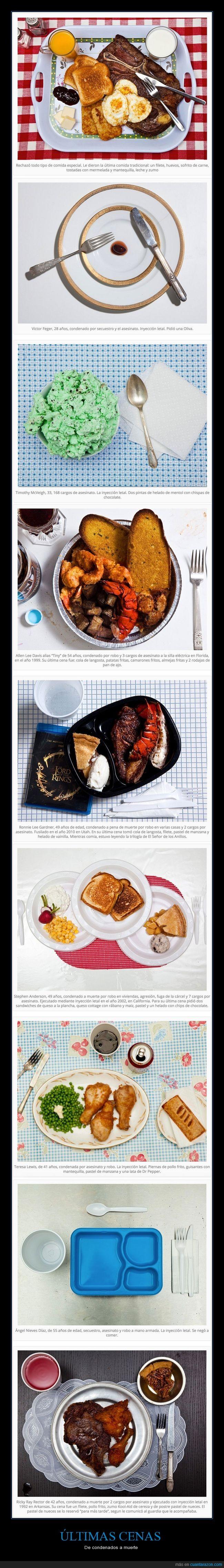 cárcel,cena,comida,pena de muerte,presos,última cena
