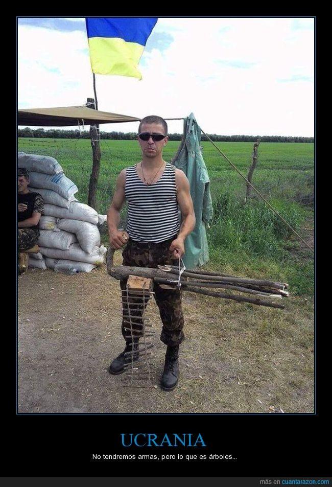 arma,humor,madera,ramas,soldado