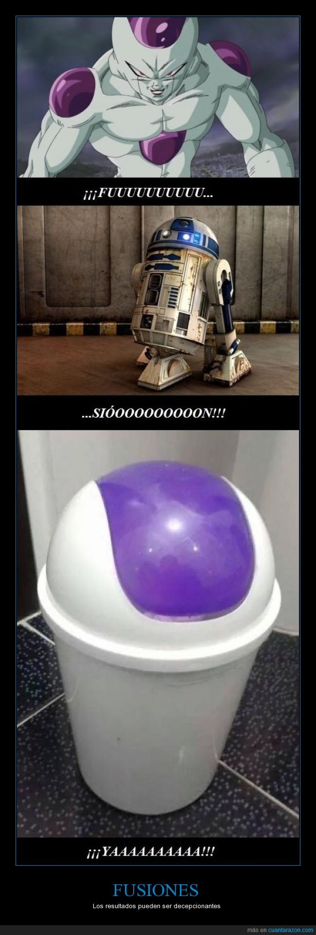 cubo de basura,dragon ball,freezer,fusion,humor,r2d2,star wars
