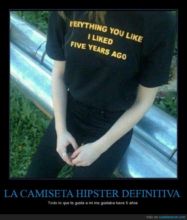 adelantarse,camiseta hipster,tendencias