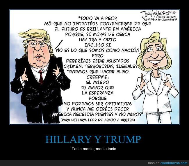 al revés,discurso,donald trump,hillary clinton