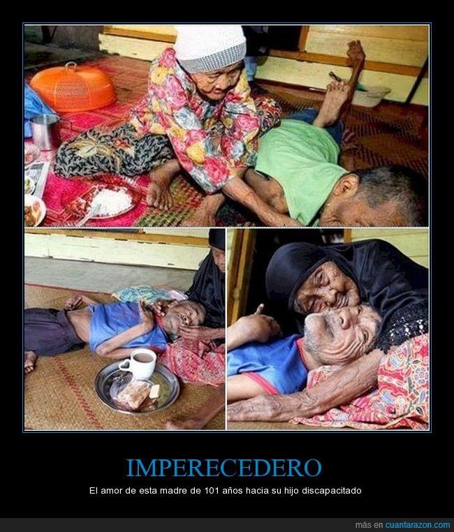 discapacitado,imperecedero,madre