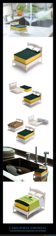 cama,esponja