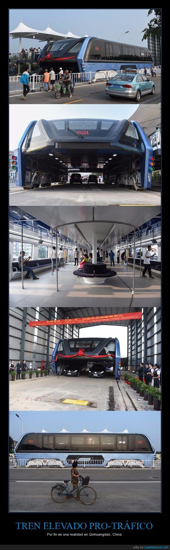 china,elevado,tráfico,tren