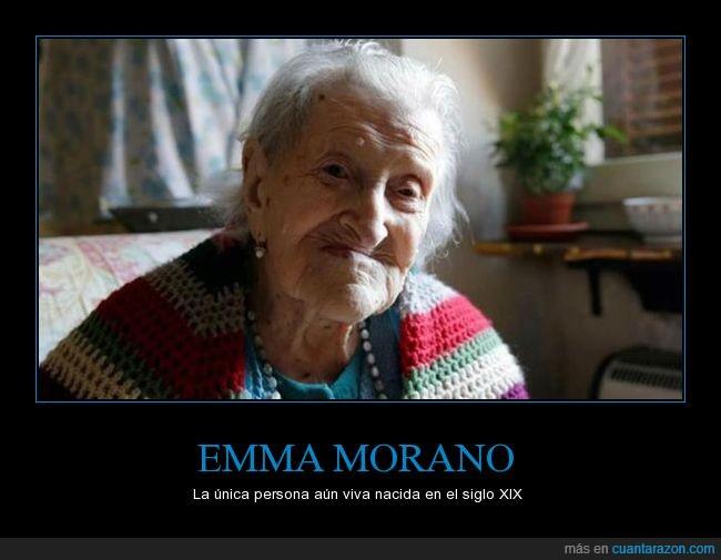 anciana,emma,morano,siglo,viva,XIX