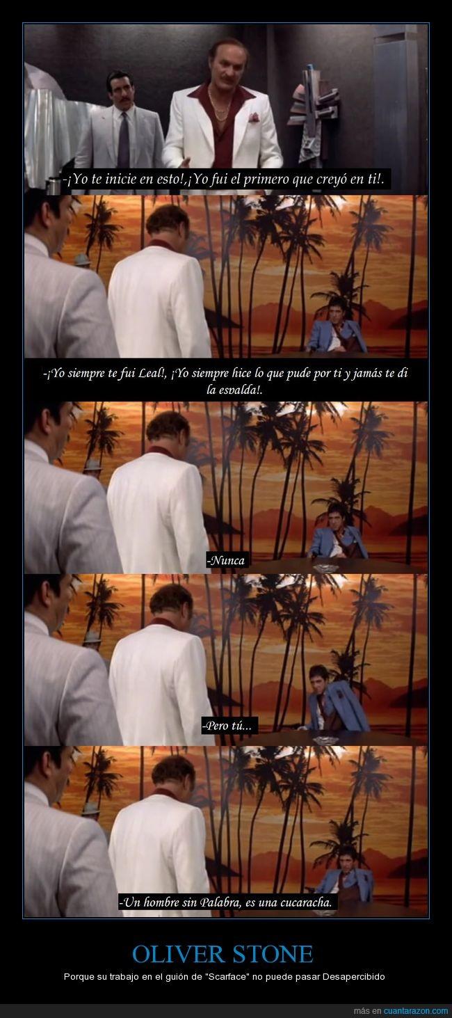 Al Pacino,Brutal,Dirigida por Brian de Palma,Exquisito trabajo,Gran escena,Guionista,Scarface