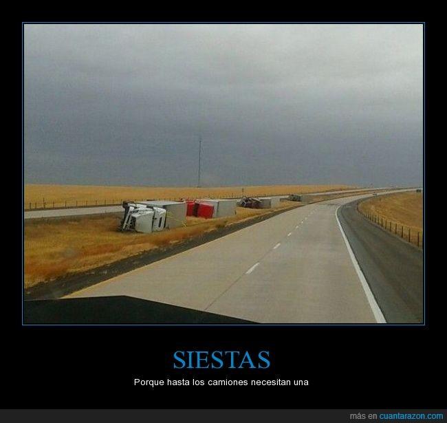 camión,carretera,siesta,tumbados