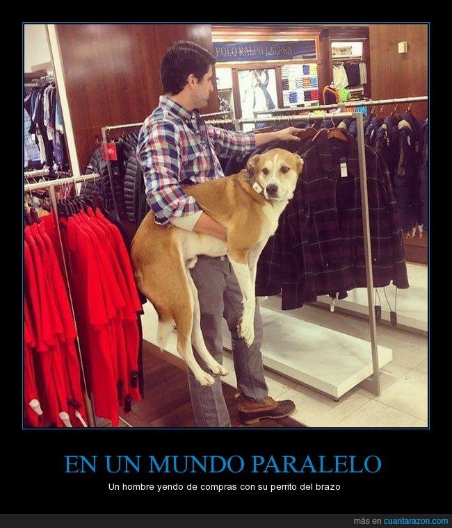 como si fuera una mujer,compras,hombre,perro