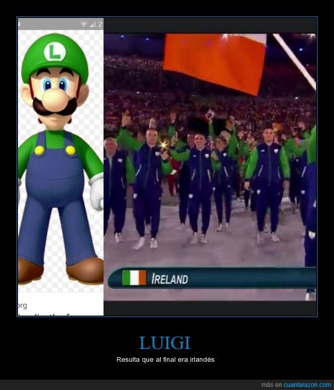 irlanda,jjoo,juegos olímpicos,luigi,traje,verde