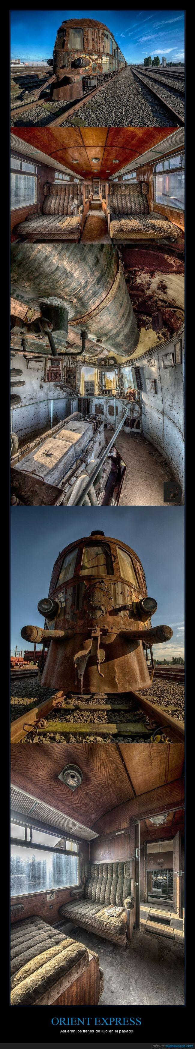 abandonado,Orient Express,tren,viajes de lujo del pasado