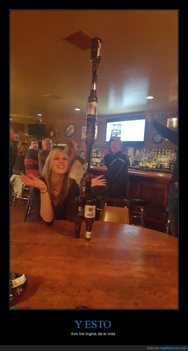 bar,botella,conseguir,reto,torre