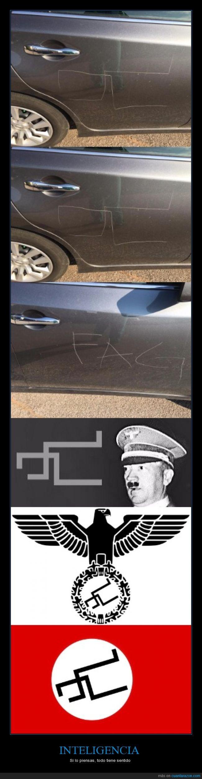 coche,fail,Nazi,rallada