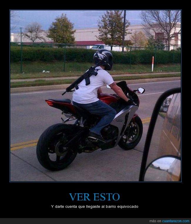 arma,carretera,motociclista,motorista
