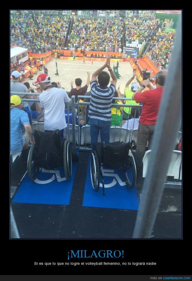levantarse,milagro,silla de ruedas,volleyball