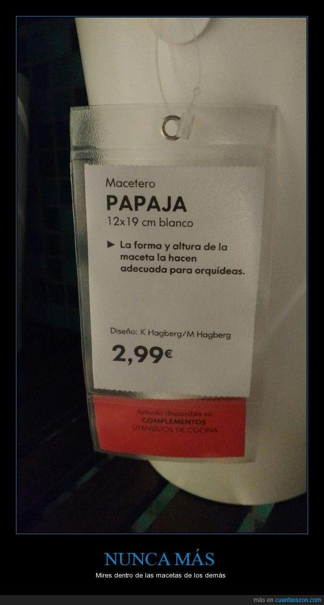 ikea,macetero,papaja