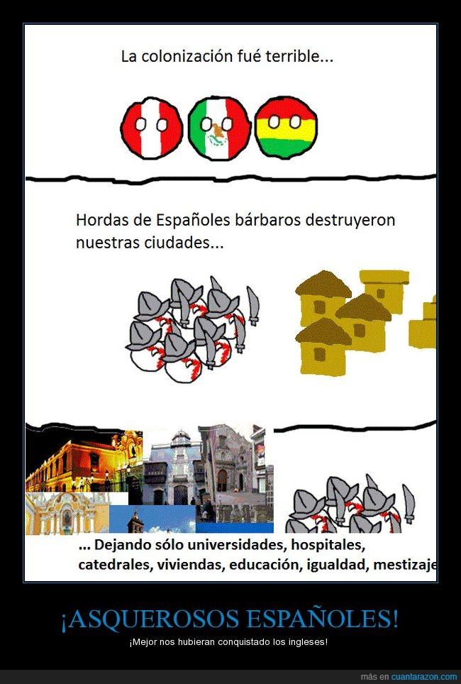 colonización,humor,países,sudamérica