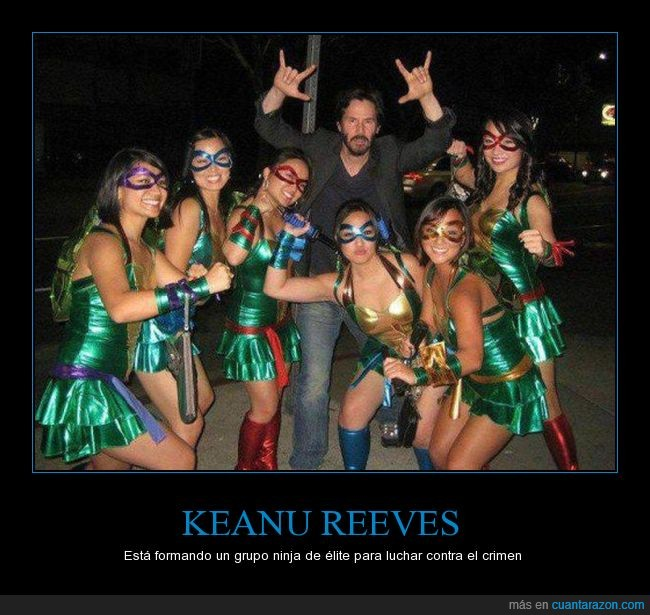 grupo,keanu reeves,ninjas