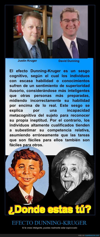 Efecto Dunning-Kruger,ig-Nobel 2000,ineptitud,inteligencia