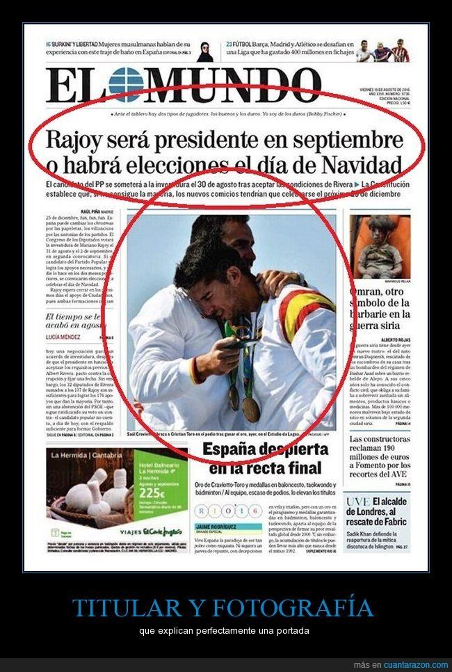 bandera,elecciones,España,Grinch,investidura,navidad,Rajoy