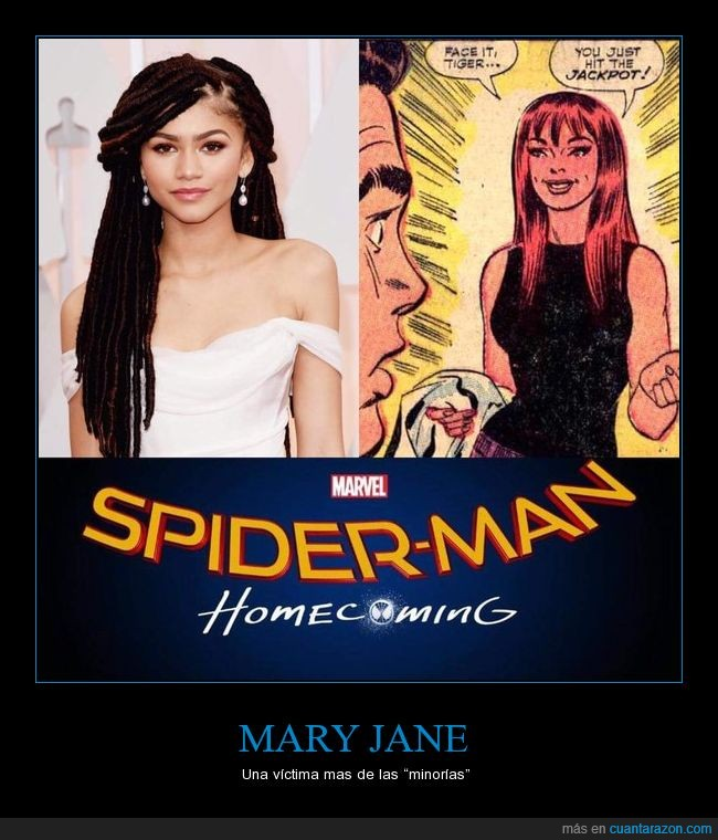 casting,Marvel,Mary Jane,negros,película,pelirroja,reemplazan,Spiderman,Zendaya