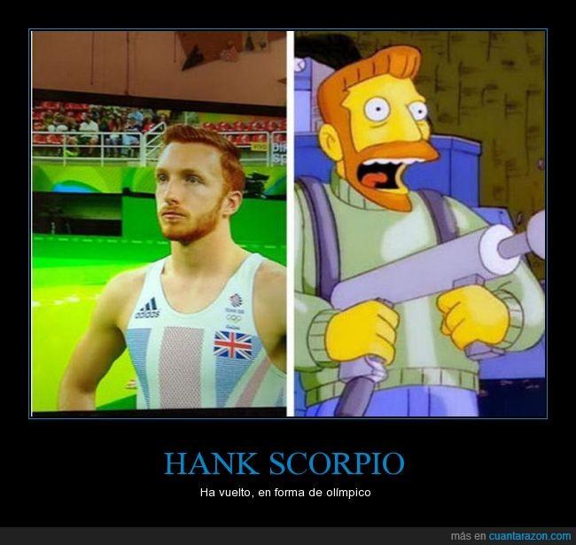 hank scorpio,juegos olímpicos,parecidos razonables,simpson