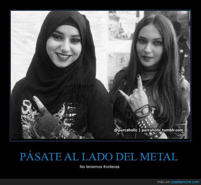 chicas,diferencias,islam,metal,mundo,música