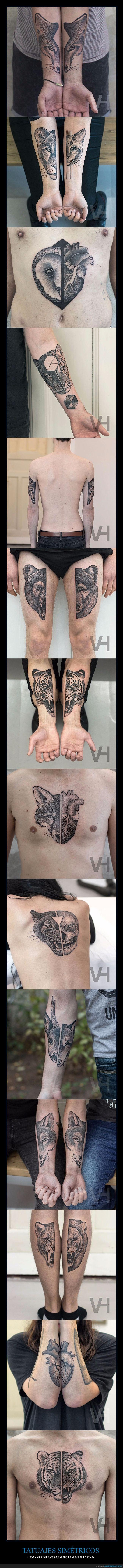 simetría,simétricos,tatuajes