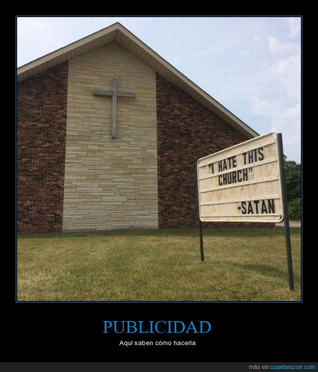 cartel,iglesia,satan