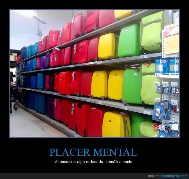 Color,cromatico,maletas,orden,placer