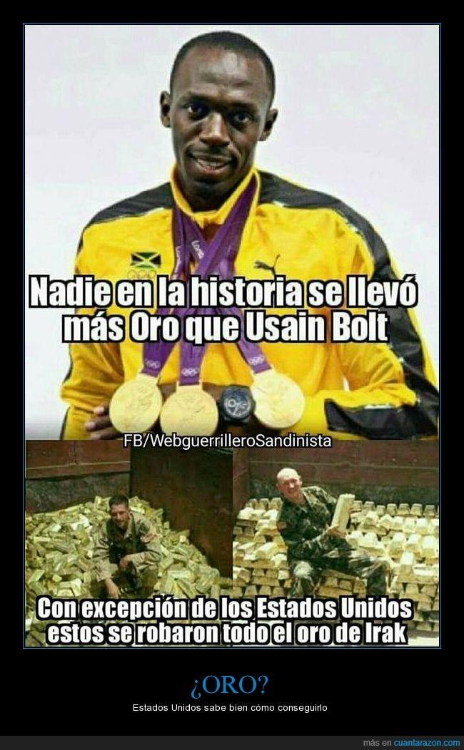 Estados Unidos,Irak,medalla,oro,Usain Bolt