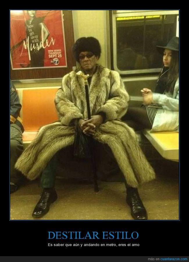 abrigo,bastón,hombre,metro,negro,señor,sombrero