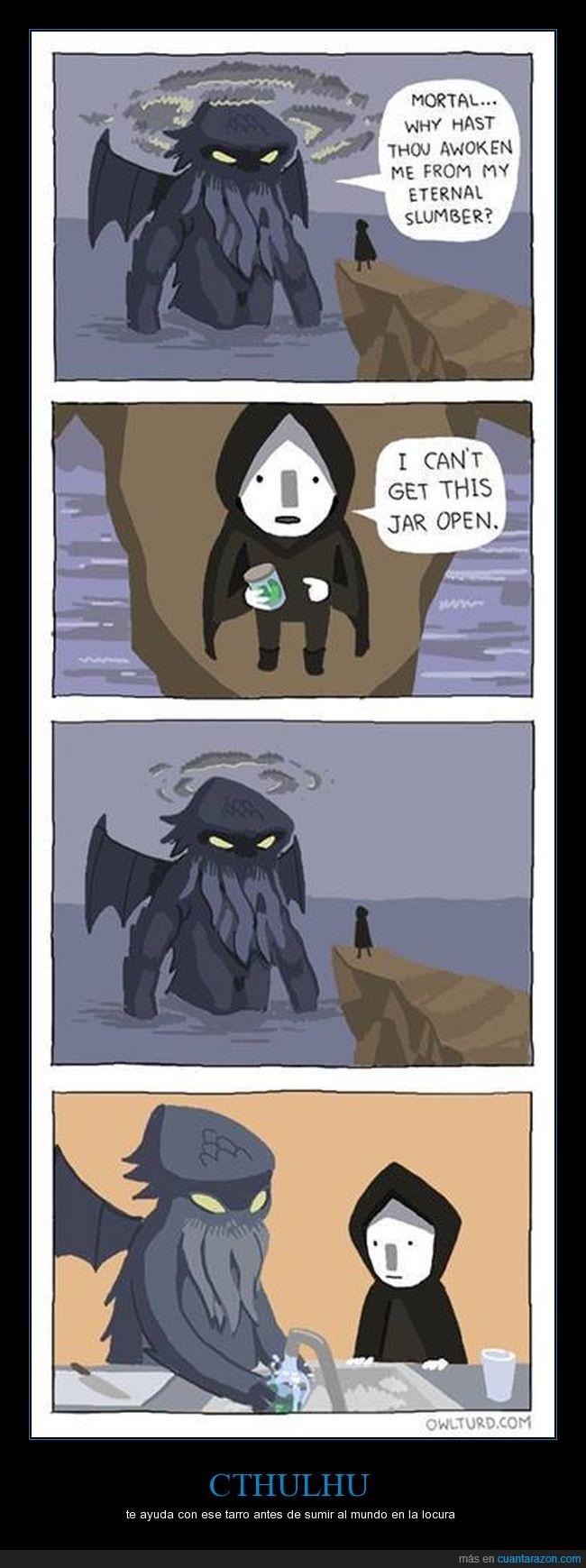 abrir,ayudar,cthulhu,dioses primordiales,H.P. Lovecraft,tarro