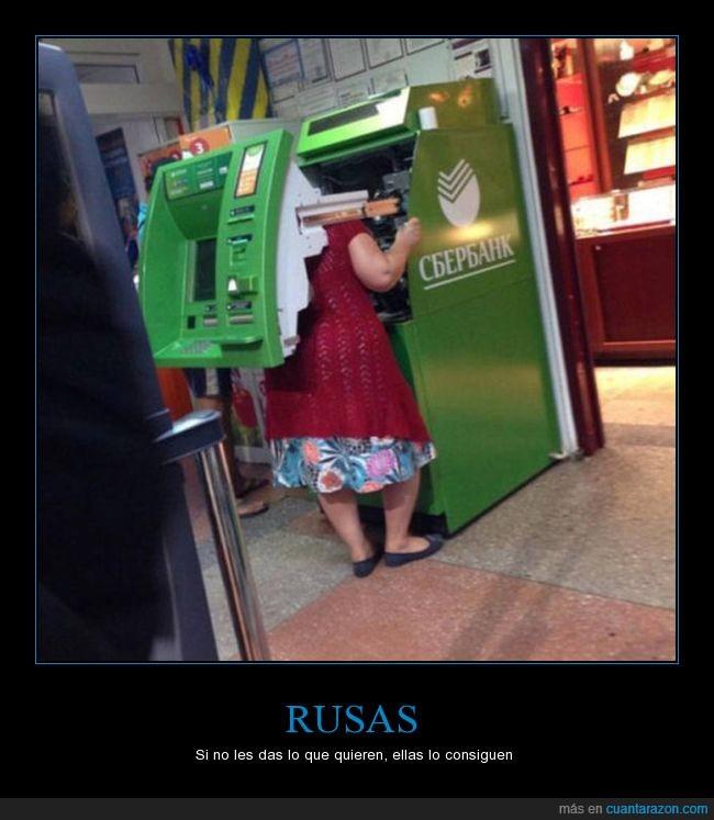 abrir,cajero,mujer,rusia.dinero,señora