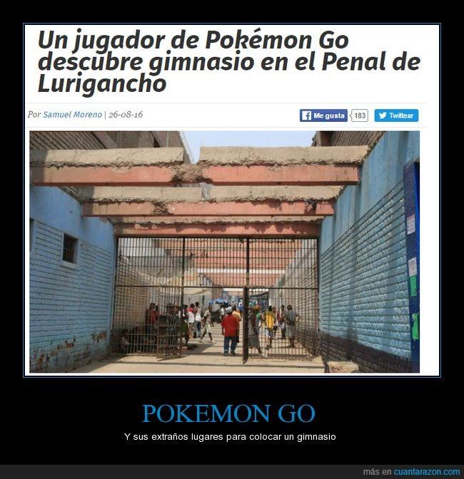 cárcel,gimnasio,lurigancho,penal,pokemon go
