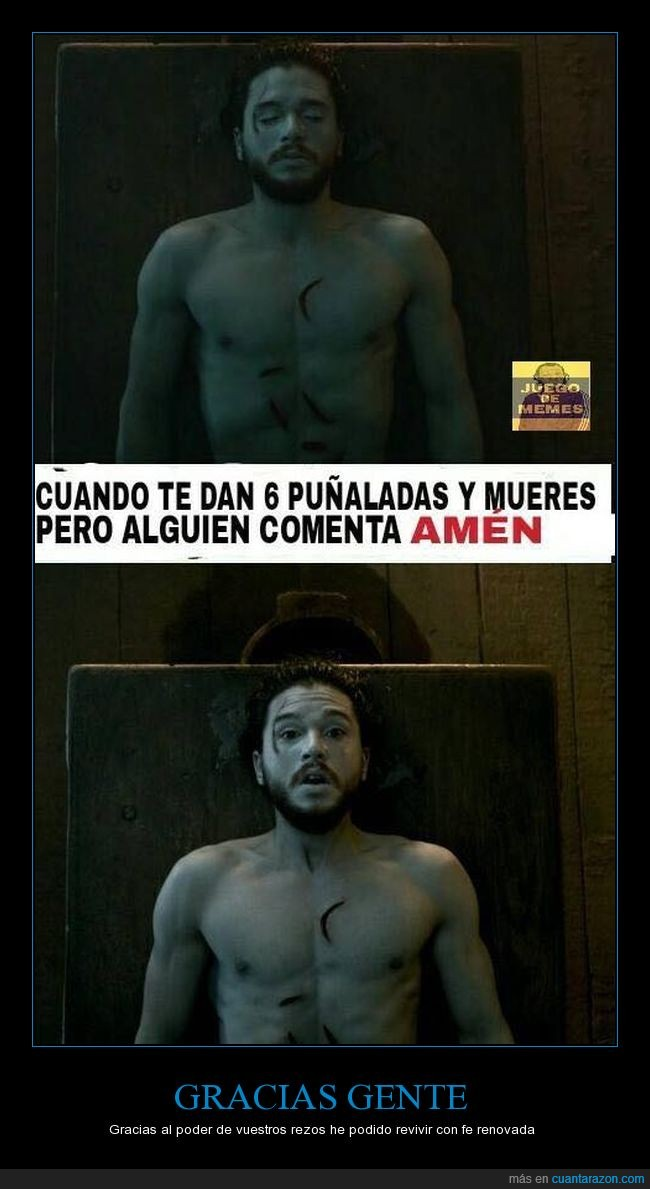 amen,compartir,facebook,game of thrones,got,jdt,Jon Nieve,Jon Snow,juego de tronos,like,puñalada,rezar
