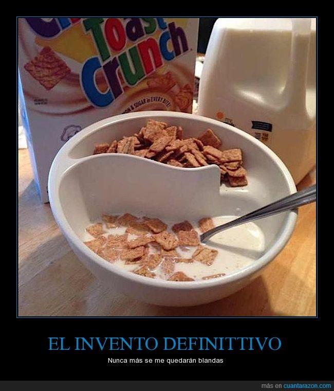 blando,bol,cereales,invento,leche,mezclar