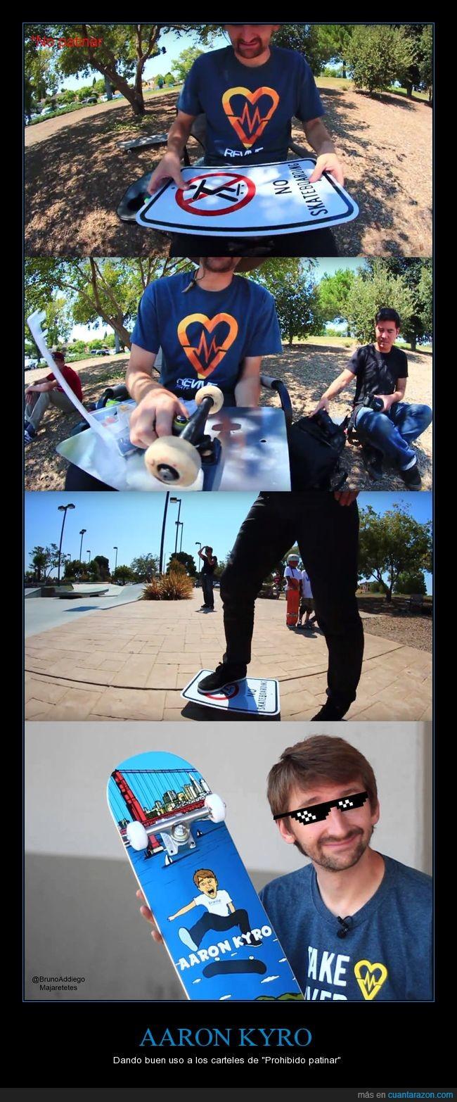 Aaron Kyro,Braille Skateboarding,cartel,patinar