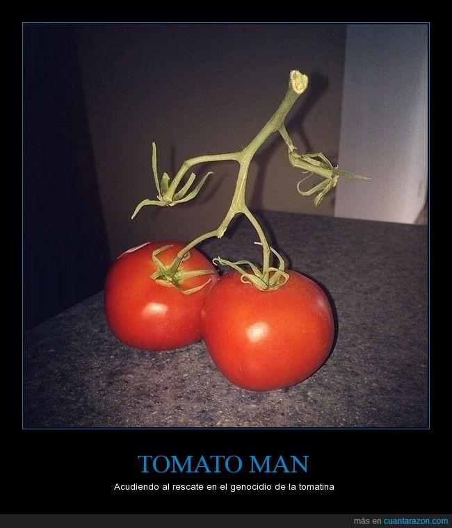 superhéroe,tomate,tomatina