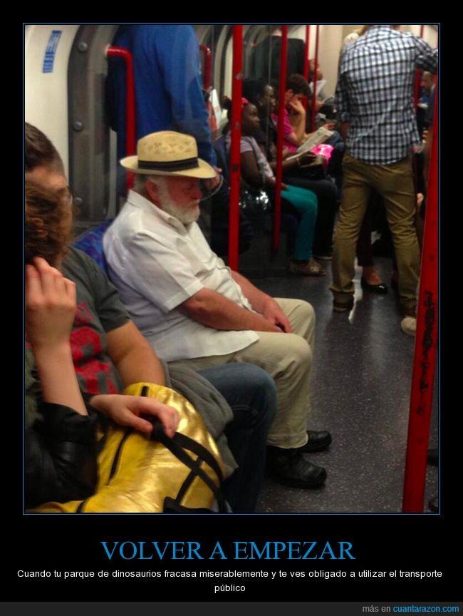 abuelo,arruinado,jefe,jurassic park,metro