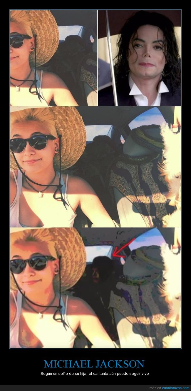 coche,hija,michael jackson,selfie