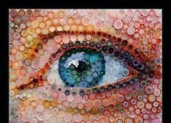 Enlace a Asombroso mural con tapas de botella