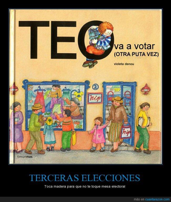 elecciones,españa,mesa electoral,teo,votar