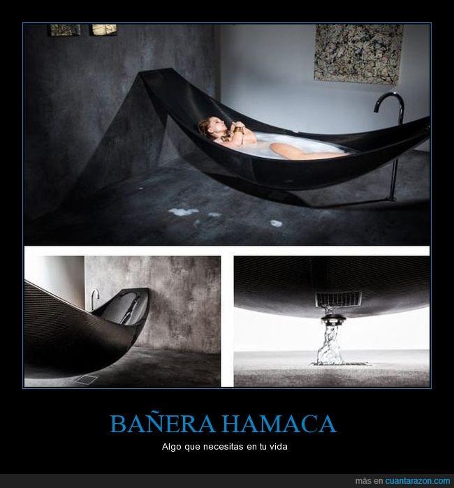 banera,baño,hamaca,negro