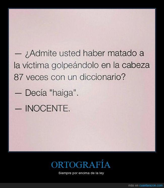 diccionario,haiga,inocente,ortografía