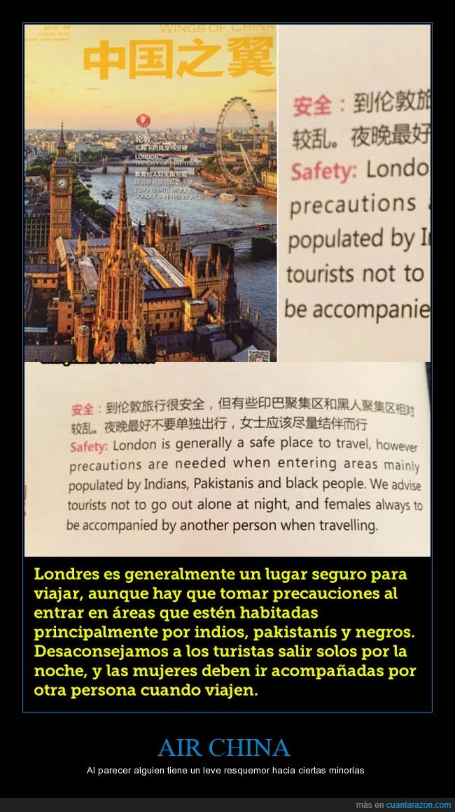 aerolínea,air china,londres,racismo