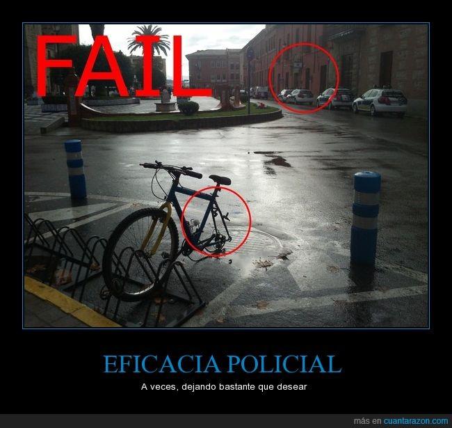 bicicleta,policía,robo
