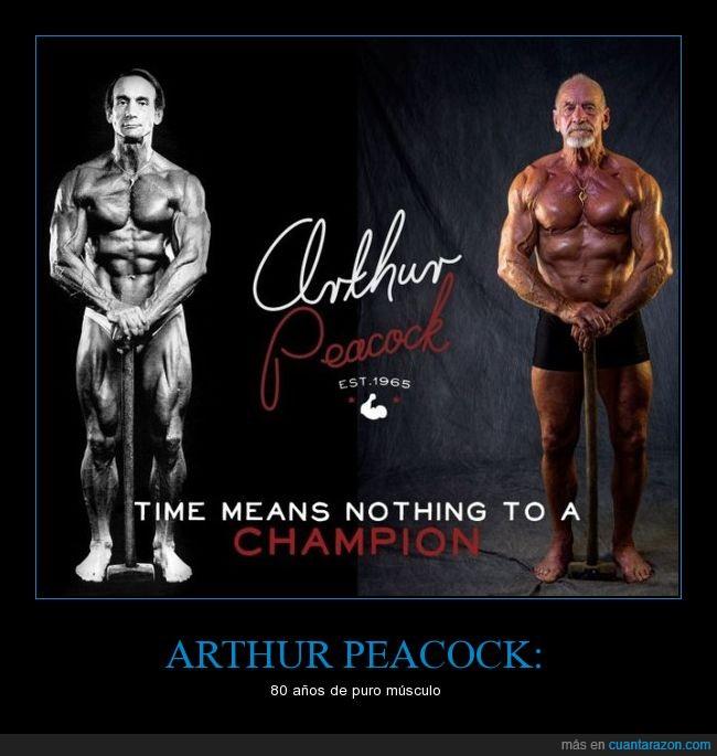 80 años,anciano,Arthur Peacock,fisicoculturista