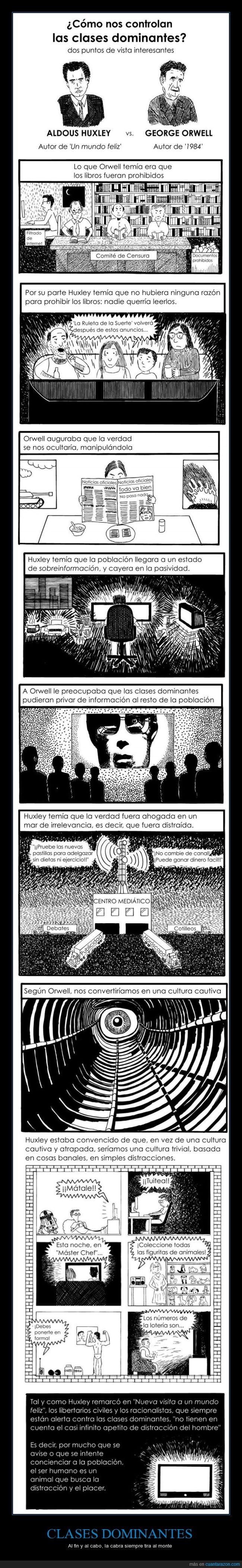 clase dominante,distracción,huxley,orwell