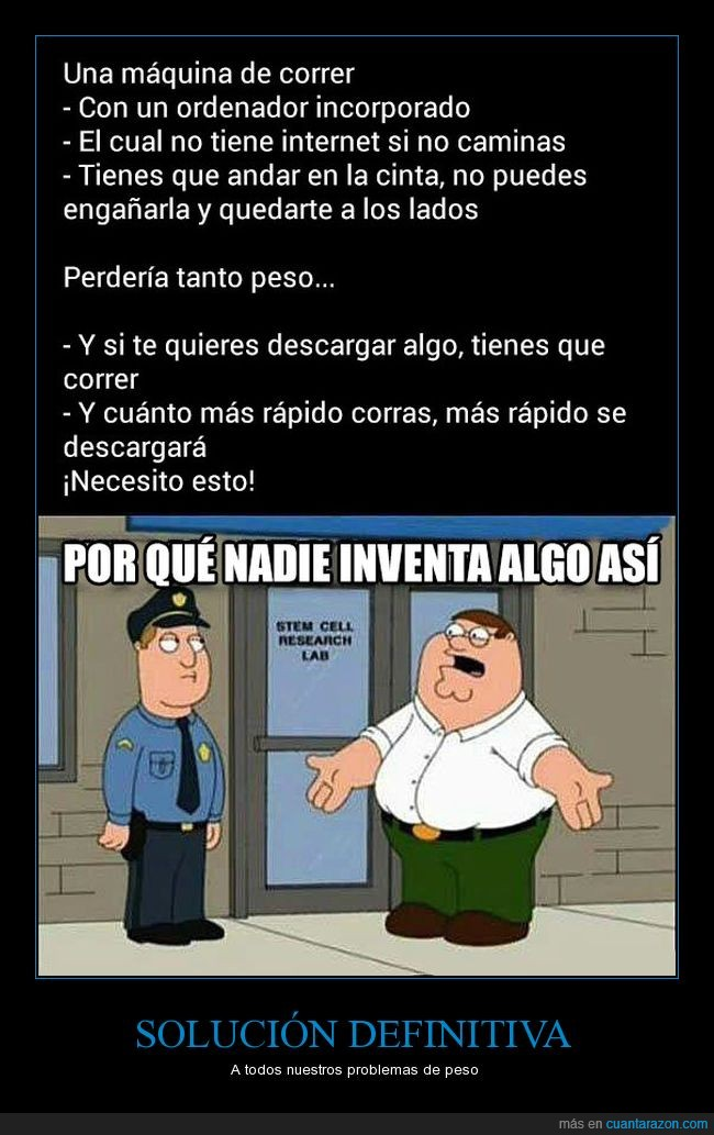 cinta,correr,internet,invento,peter griffin