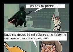Enlace a Darth Vader fue muy tonto cuando confesó ser el padre